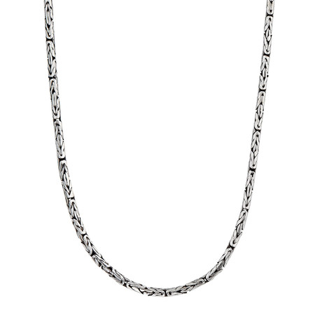 "Men's Silver Byzantine Chain // 22"""
