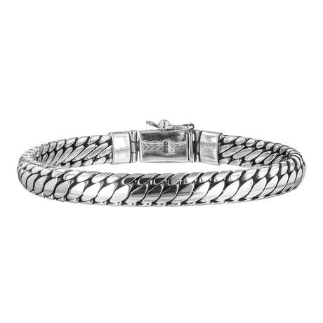 """Men's Link Bracelet // Silver (8""""// 42g)"""