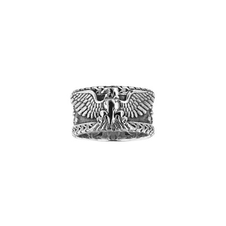 Men's Eagle Band Ring // Silver (9)