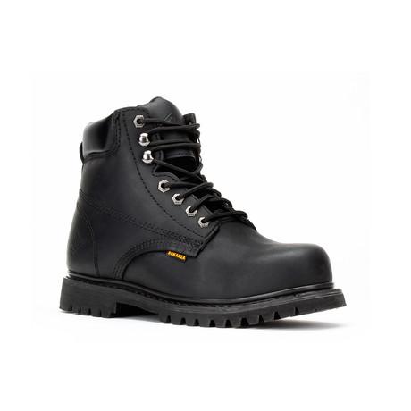 Bonanza // Men's 6'' Round-Toe Boots // Black (US: 5)