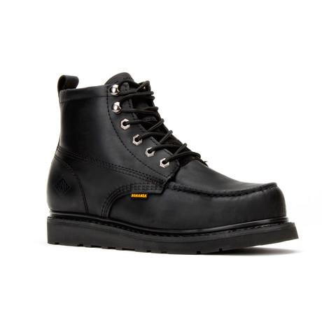 Bonanza // Men's 6'' Moc-Toe Wedge Boots // Black (US: 5)