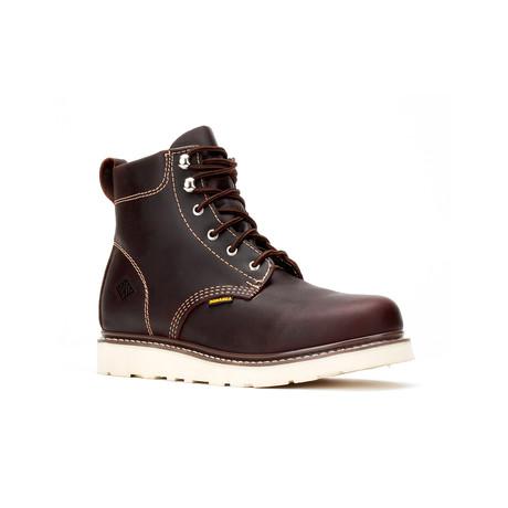 Bonanza // Men's 6'' Round-Toe Wedge Boots // Burgundy (US: 5)