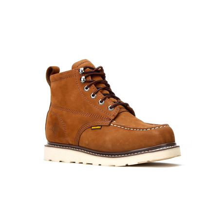 Bonanza // Men's 6'' Moc-Toe Wedge Boots // Nubuck Brown (US: 5)