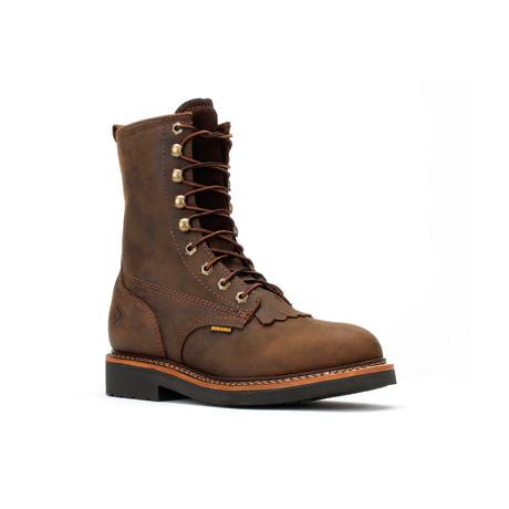 Bonanza // Men's 8'' Lacer Boots // Crazy Brown (US: 5)