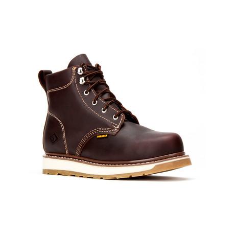 Bonanza // Men's 6'' Dual Density Round-Toe Boots // Burgundy (US: 5)