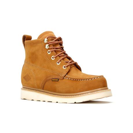 Bonanza // Men's 6'' Moc-Toe Wedge Boots // Gold (US: 5)