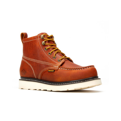 Bonanza // Men's 6'' Moc-Toe Wedge Boots // Golden Brown (US: 5)