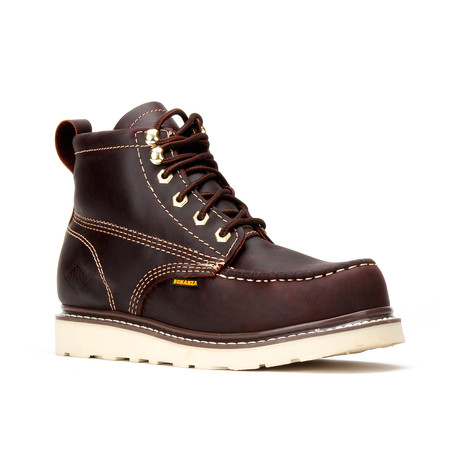Bonanza // Men's 6'' Moc-Toe Wedge Boots // Burgundy (US: 5)