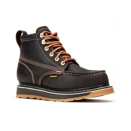 Bonanza // Men's 6'' Dual Density Moc-Toe Boots // Dark Brown (US: 6)