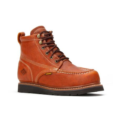 Bonanza // Men's 6'' Moc-Toe Wedge Boots // Light Brown (US: 5)