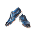 Smart Casual Leather Oxfords  // Blue (Euro: 38)