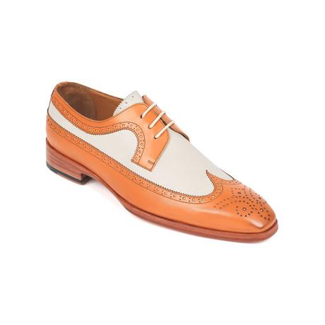 Dual Tone Wingtip Derby Shoes // Cognac + Cream (Euro: 38)