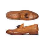 Woven Leather Tassel Loafers  // Camel (Euro: 42)