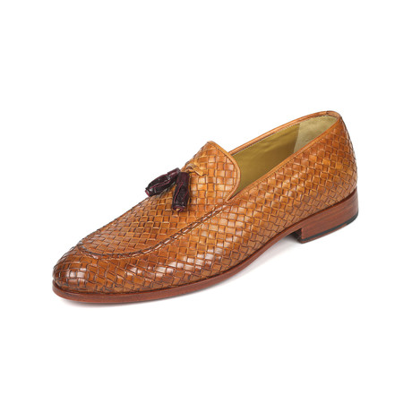 Woven Leather Tassel Loafers  // Camel (Euro: 38)