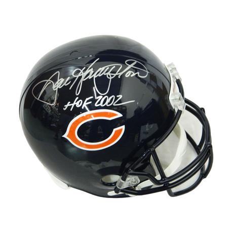 Dan Hampton Signed Chicago Bears // Riddell Full Size Replica Helmet with HOF 2002