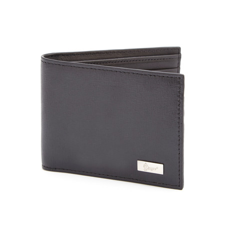 RFID Blocking Bi-Fold Wallet // Black