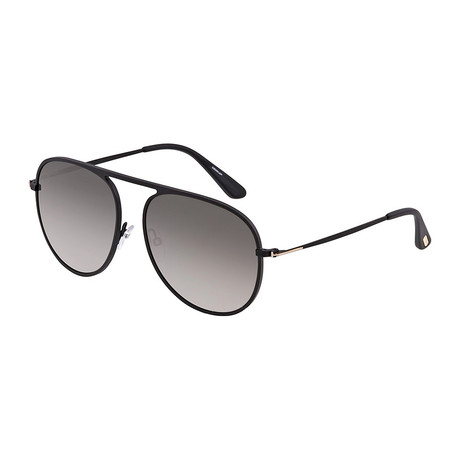 Men's FT0621 Polarized Sunglasses // Matte Black + Gray Gradient