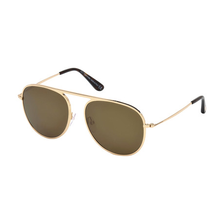 Men's Jason Sunglasses // Gold + Brown