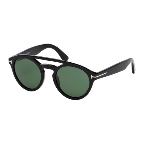 Men's FT053 Sunglasses // Black + Green