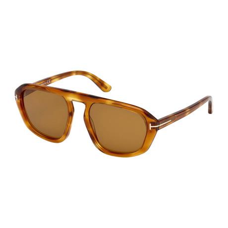 Men's David Sunglasses // Light Havana + Brown