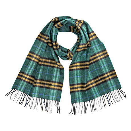 Burberry Castleford Cashmere Scarf // Forest Green