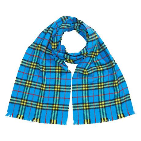 Burberry Check Cashmere Scarf // Bright Sky Blue
