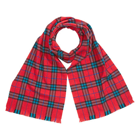 Burberry-W-Mufflers Cashmere Scarf // Bright Red