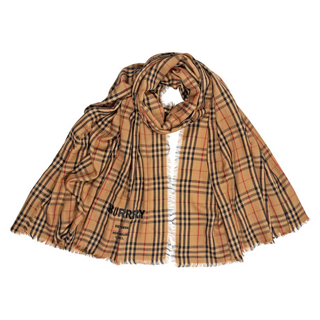 Overdyed Vintage Cashmere Scarf // Tan