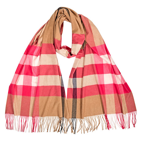 Burberry-W-Stole Cape Scarf // Bright Pink