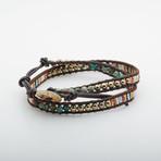 Jean Claude Jewelry // Double Wrap Turquoise + Pyrite + Tila Bead Bracelet // Multicolor