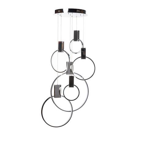 Integrated LED Chandelier // Hanging Hoops