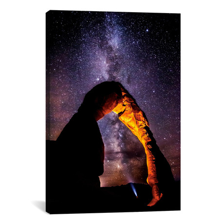 "Milky Way Explorer (2013) // Darren White Photography Canvas Print (18""W x 26""H x 0.75""D)"