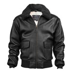 Top Gun® Official Military G-1 Jacket // Black (M)