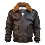 Top Gun® Official Military G-1 Jacket // Brown (2XL)