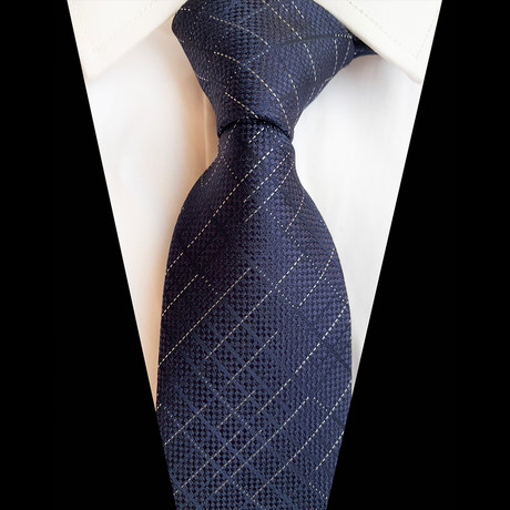 Handmade Silk Tie // Navy Design