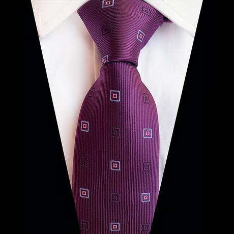 Handmade Silk Tie // Purple Design