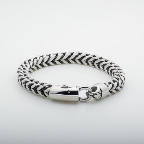 Dell Arte // Foxtail Link Bracelet // Silver + Black