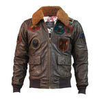 Top Gun® Super Vintage Official Signature Series Jacket // Brown (L)