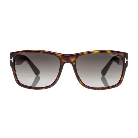 Men's Mason Sunglasses // Dark Havana + Smoke Gradient
