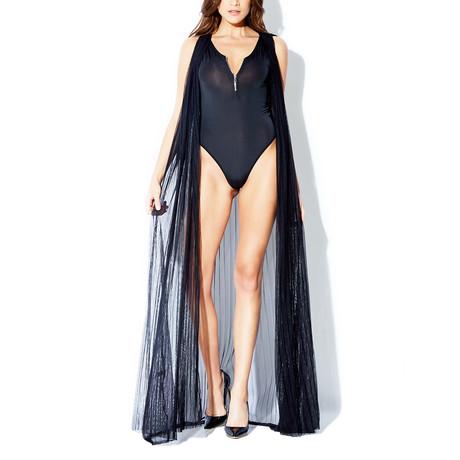 Sleeveless Mesh Robe // Black (XS-S)