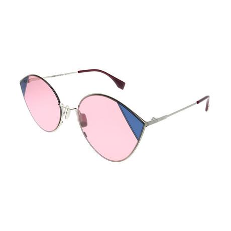 Fendi // Women's Cat Eye Sunglasses // Silver