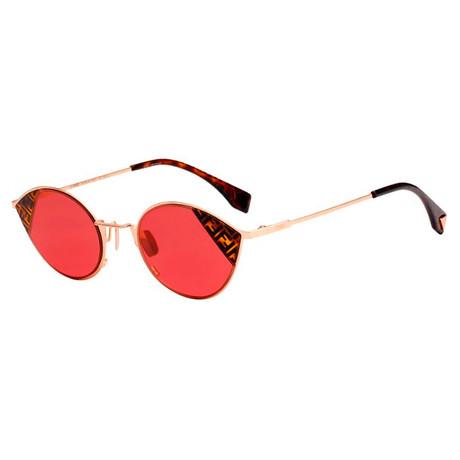 Fendi // Women's Cat Eye Sunglasses // Rose Gold