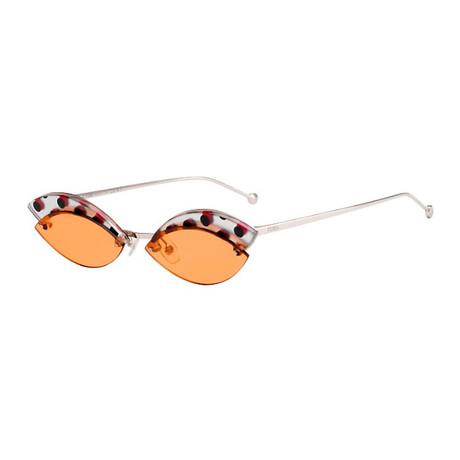 Fendi // Women's Defender Sunglasses // Silver
