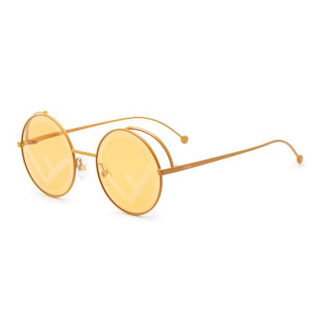 Fendi // Women's RAMA Sunglasses // Yellow