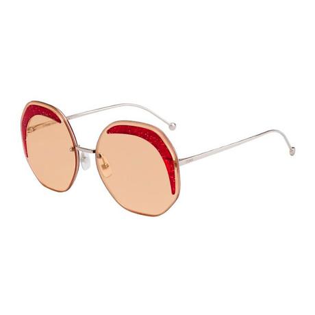 Fendi // Women's Geometric Sunglasses // Silver II