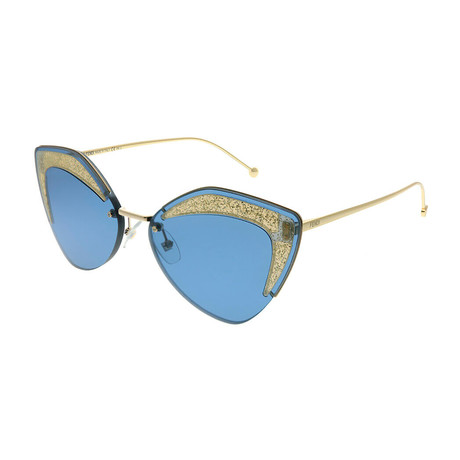 Women's Fashion Sunglasses // 66mm // Gold Frame