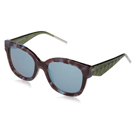 Women's VERY Sunglasses // Blue Havana + Green