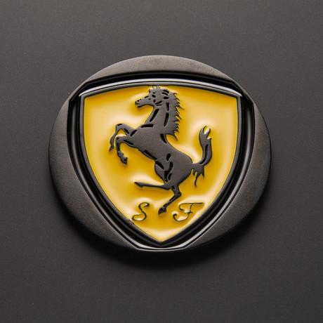Ferrari Car Coaster // Enameled Colored (Single Piece) (Yellow Gold)
