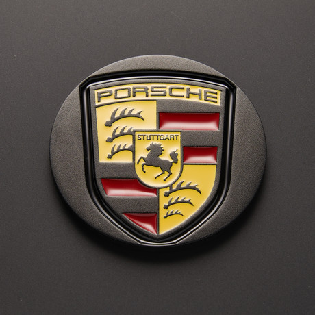 Porsche Car Coaster // Enameled Colored (Single Piece) (Yellow Gold)