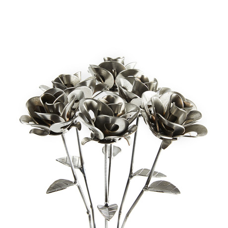Half Dozen Immortal Steel Rose